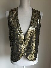 Country casuals femmes gilet or brillant formelle occasion taille l (08)
