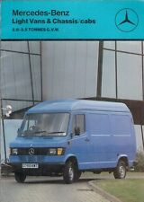 Mercedes-Benz 207 210 307 310 407 410 Van 1987-88 UK Market Sales Brochure