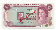BERMUDA 5 DOLLARS 1978 PICK 29 SPECIMEN UNC