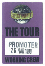 Spiceworld - The Tour - Konzert-Satin-Pass Crew vom 26.03.1998 - Sammlerstück