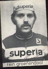 RENE GROENENDAAL Photo Signée SUPERIA cyclisme ciclismo autographe Cycling