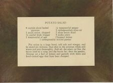 VINTAGE RECIPE CARD POTATO SALAD ORIGINAL NEW PASTEL BORDER AESTHETIC ART PRINT