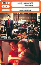 FICHE CINEMA FILM USA APPEL D'URGENCE /MIRACLE MILE Réalisateur Steve De Jarnatt