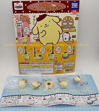 Sanrio Pom Pom Purin Figure Mascot ,5 pcs+Display Card - Takara Tomy Gashapon h#