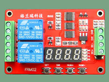 Relay Module Cycle Time Delay Timing Self-locking Multi-Function Switch 12V A135