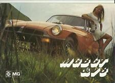 MG MGB GT AND V8 SALES BROCHURE MAY 1975