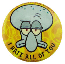 25mm Spongebob Squarepants Squidward Button Badge New Official Merchandise