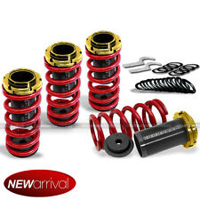 Fit 88-00 Civic CRX Red Gold Adjustable Suspension Lowering Coilover Spring Kit