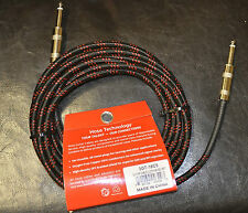 "Hosa 18FT 1/4"" Woven Cloth Guitar Cable Cord 3GT-18C5 NEW"