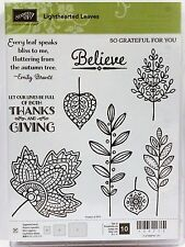 Stampin Up LIGHTHEARTED LEAVES photopolymer stamps Thanks grateful fall