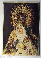 Ancienne image religieuse , Sainte à définir , pailletée
