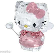 Swarovski Hello Kitty Fairy, Angel Heart  Cat Pink Crystal Figurine  1191890