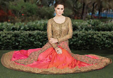 Indian Designer Long Top Anarkali Lehenga Suit with Dupatta Latest Salwar Kameez