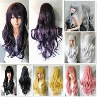 Women's Ladies Girl's Multicolor Wigs Long Curly Anime Cosplay Wig 70cm/28 inch