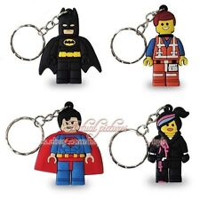 New 4Pcs The Lego Movie Key Chain Ring Party Favours Gifts