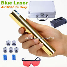 Most Powerful Strong Blue Burning Laser Pointer orginal Laser Pen Torch 2x16340
