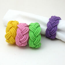 Mystic Knotwork: Spring Sailor Knot Turks Head Napkin Rings, Set of 4