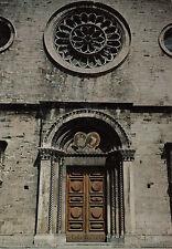 Cartolina Postale - Gualdo Tadino / Ro sone Portale della Cattedrale