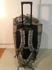 Huge U.S Military Issue U.S Army Rolling Wheels Deploymnent Duffel Bag ACU Camo