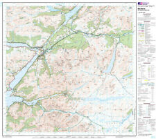 OS LANDRANGER MAP 41 BEN NEVIS, FORT WILLIAM, GLEN COE - FLAT WALL MAP.