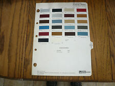 1985 AMC Jeep Renault Alliance R-M Color Chip Paint Sample