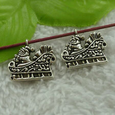 free ship 68 pcs tibet silver Santa sleigh charms 23x21mm #2951
