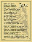 BEAR - POSTER Wicca Pagan Witch Witchcraft Goth Punk BOOK OF SHADOWS Totem