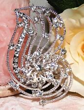 Large Rhinestone Crystals Brooch new