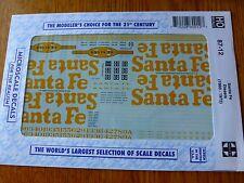 Microscale Decal HO  #87-12  Santa Fe Diesels (1959-1971)