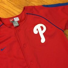 PHILADELPHIA PHILLIES Baseball Jersey Shirt BOYS LARGE Team NIKE