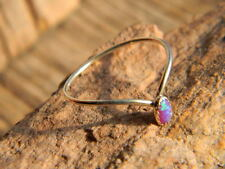 Sterling silver ladies ring blue red fire opal size 8