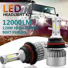 2x PHILIPS HB5 9007 120W 12000LM LED HEADLIGHT Kit HI/LOW BEAM WHITE 6500K BULBS