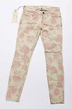 CURRENT/ELLIOT Womens Floral Distressed Stretch Skinny Slim Pants Jeans 24-0 NEW