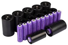 12x AA 3000mAh PUR Ni-MH Rechargeable Battery + 6C/6D Battery Adapter Converter