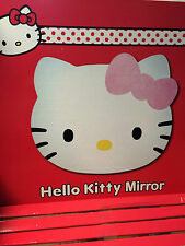 NEW Boxed bundle HELLO KITTY HEAD SHAPE ACRYLIC SELF ADHESIVE MIRROR x 6