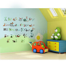 26 Animal Alphabet Letters Removeable Wall Sticker Baby Kid Art Decal Room Décor