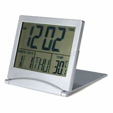 Digital LCD Display Desk Alarm Snooze Clock Calendar Date Time Thermometer UK