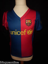 Maillot vintage FC BARCELONE UNICEF RONALDINHO N° 10 Taille 4 ans