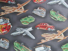 Michael Miller Fabric WAY TO GO Retro Transportation-yards