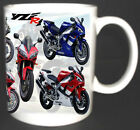 YAMAHA YZF R1 CLASSIC MOTORBIKE MUG. LIMITED EDITION ALL YEAR COLOURS AVAILABLE
