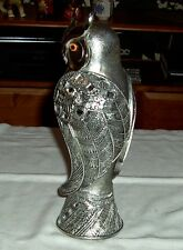Vintage Metal /Ceramic Owl Figurine Retro Novel Decoration Height 10.5""