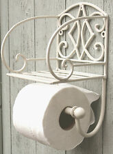 Stylish Sturdy Wall Mounting Shabby Chic Bathroom Toilet Roll Holder Cream