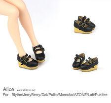 Alice shoes_Black for Blythe / DAL / Pullip / Momoko/ Lati_y/Pukifee