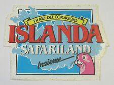 VECCHIO ADESIVO / Old sticker RAID SAFARILAND ISLANDA FOCA (cm 12x9)