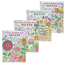 Floral Adult Coloring Book for Stress Relief and Relaxation