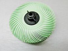 "3M RADIAL BRISTLE DISC 1mic LIGHT GREEN HIGH POLISH FINISH 3"" 6 PLY  Mounted Hub"