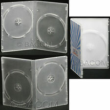 50 Custodie DVD Doppie Semi Trasparenti - DVD Semi Clear per 2 DVD/CD S. gratis!