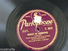 78rpm WILLIAM STARR medley of hornpipes / medley of jigs F 3374