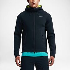Nike 2016 Therma Sphere Max Training Hoodie BLACK Volt yellow Men's M 800227 010
