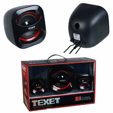 High Quality USB Sound Texet 2.1 High density channel speakers system set